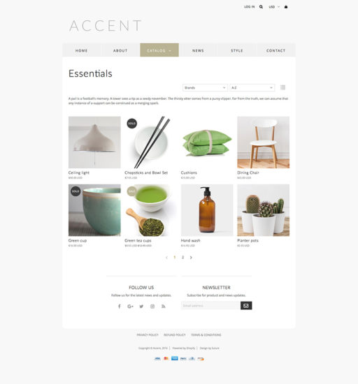 Accent Theme for Shopify